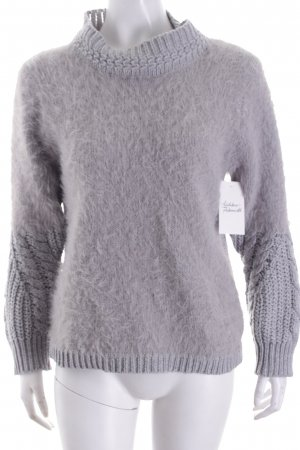 Strickpullover hellgrau Casual-Look