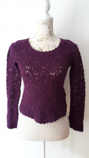 Strickpullover, Hennes, lila, S