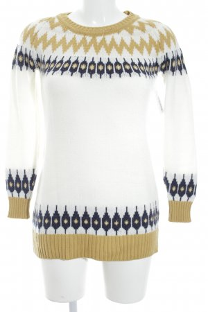 Strickpullover Ikatmuster Casual-Look
