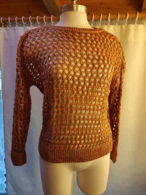 Strickpullover in Orange