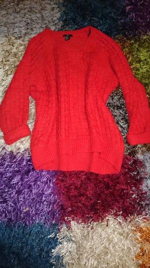 Strickpullover in rot Gr S Winterpullover oversized