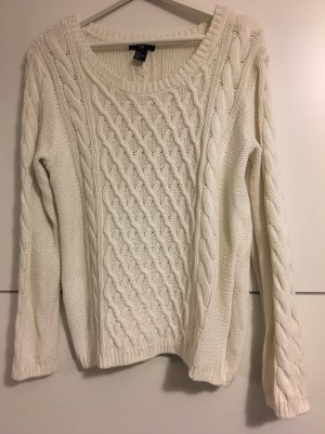 Strickpullover in wollweiss