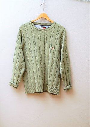 Tommy Hilfiger Knitted Sweater khaki cotton