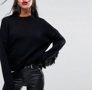 Asos Pull tricoté noir