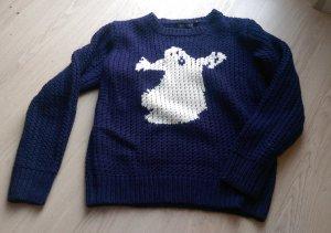 Strickpullover mit Ghostbusters Geister-Motiv Gr. S, Halloween
