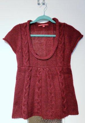 Camicia maglia carminio