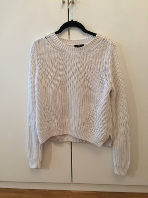 H&M Jersey de cuello redondo blanco