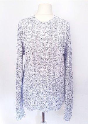 Maglione lavorato a maglia bianco-nero