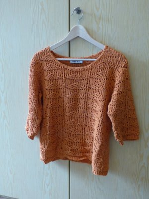 Strickpullover, orange
