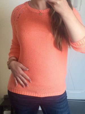 Strickpullover Pulli orange Gr. XS/S
