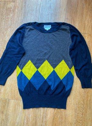 Strickpullover Pullover blau mit  3/4 Ärmel