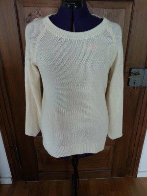 Strickpullover Pullover cremeweiß H&M Gr. 40