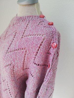 Strickpullover Pullover Gr. M L 40 42 Rundhals vintage