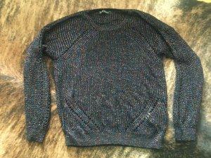 Strickpullover Pullover Jumper Lurex Glitzer 80ies Style