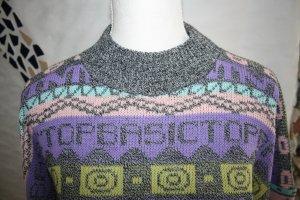 Strickpullover / Pullover / Pulli / Gr. M / lila, gelb, schwarz, türkis, rosa / Winterpullover