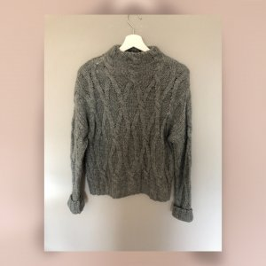 Review Coarse Knitted Sweater grey