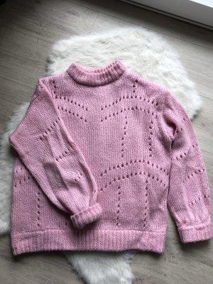 Gina Tricot Grof gebreide trui lichtroze-roze