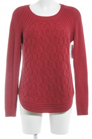 Strickpullover rot Casual-Look
