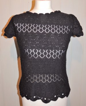 3 Suisses Knitted Sweater black cotton