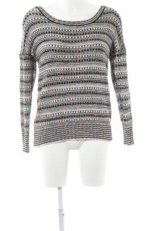 Maglione lavorato a maglia motivo a righe stile casual