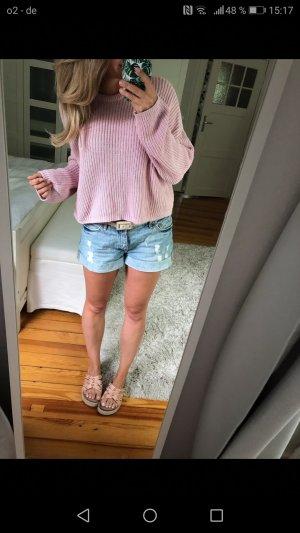 Bershka Wool Sweater pink