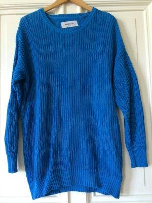 Strickpullover Vero Moda kuschelig blau Farbflash Blogger Trend