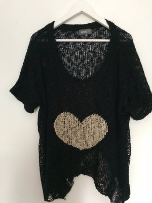 Apricot Knitted Sweater black-cream