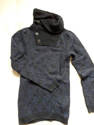 G-Star Raw Grof gebreide trui donkerblauw-blauw