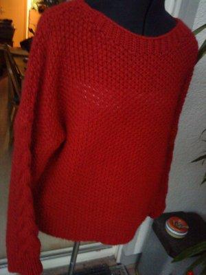 Strickpullover von Isabella D. Italy rot M/L