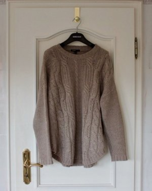 Mango Pull tricoté beige-chameau