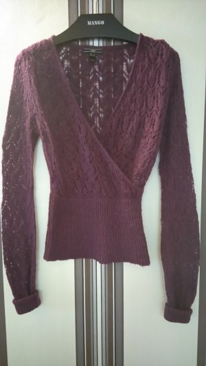 Mango Knitted Sweater violet