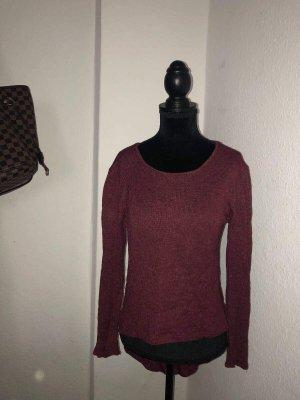 Zara Pull tricoté multicolore coton