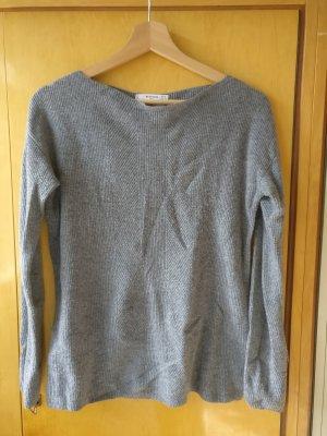 Mango Maglione di lana grigio Tessuto misto