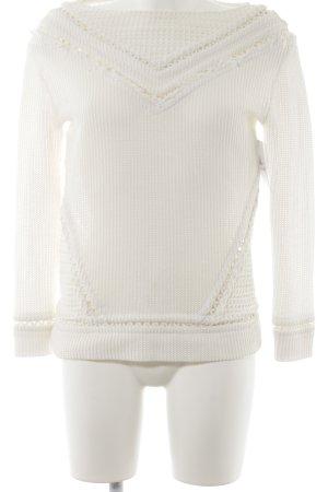 Maglione lavorato a maglia bianco sporco stile casual