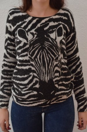 Strickpullover Zebra Motiv