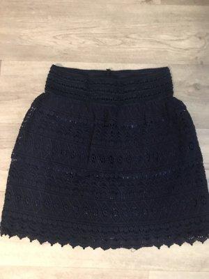 Jupe tricotée bleu foncé
