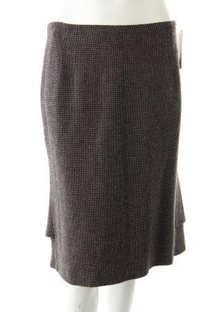 Strickrock creme-schwarzbraun klassischer Stil