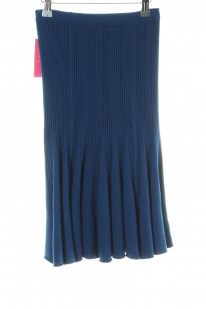 Knitted Skirt dark blue-black flecked extravagant style