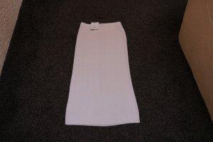 Apart Jupe tricotée blanc cassé tissu mixte