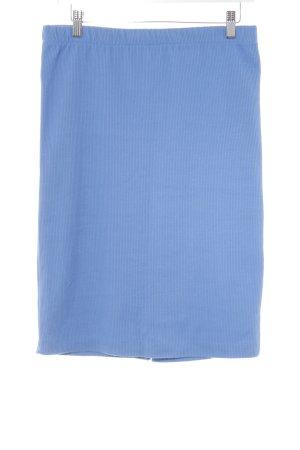 Jupe tricotée bleu azur Motif de tissage style décontracté