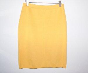 Jupe tricotée jaune fluo laine vierge