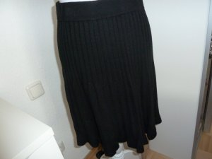 Gebreide rok zwart Katoen