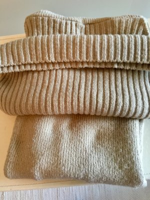 Fine Knitted Cardigan camel-cream mixture fibre