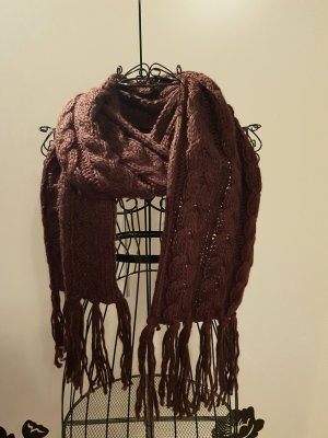 Knitted Scarf blackberry-red