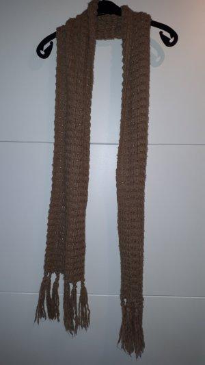Écharpe en tricot beige