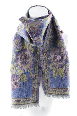 Strickschal Blumenmuster Casual-Look