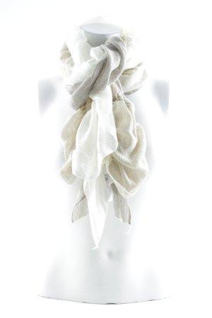 Bufanda de punto crema-gris claro look casual