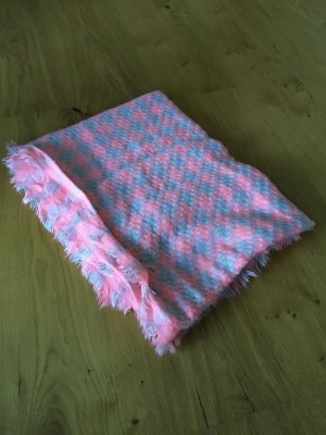 Pieces Knitted Scarf light grey-neon pink