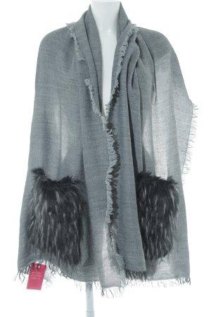 Strickschal grau Casual-Look
