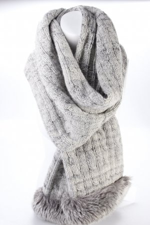 Knitted scarf heather gray
